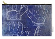 1910 Baseball Glove Patent Blue Carry-all Pouch