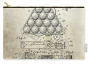 1910 Billiards Triangle Patent Carry-all Pouch