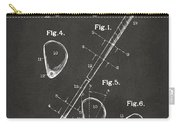 1910 Golf Club Patent Artwork - Gray Carry-all Pouch