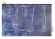 1911 Mechanical Skeleton Patent 1 Blue Carry-all Pouch