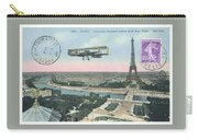 1911 Paris Eiffel Tower Colorized Postcard Carry-all Pouch