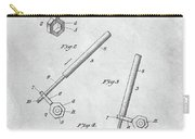 1913 Wrench Patent Illustration Carry-all Pouch