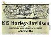1915 Harley Davidson Advertisement Carry-all Pouch