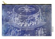 1916 Merry Go Round Patent Blue Carry-all Pouch
