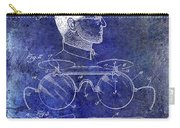1916 Sunglasses Patent Blue Carry-all Pouch