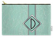 1920s Blue Deco Jazz Swing Monogram ...letter D Carry-all Pouch