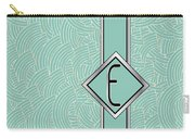 1920s Blue Deco Jazz Swing Monogram ...letter E Carry-all Pouch