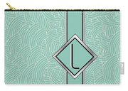 1920s Blue Deco Jazz Swing Monogram ...letter L Carry-all Pouch