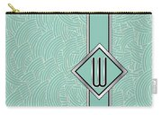 1920s Blue Deco Jazz Swing Monogram ...letter W Carry-all Pouch
