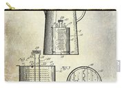 1921 Coffee Pot Patent Carry-all Pouch