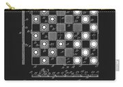 1923 Checkers And Chess Board Carry-all Pouch