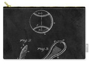 1924 Baseball Patent Illustration Carry-all Pouch
