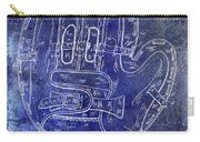 1925 Baseball Glove Patent Blue Carry-all Pouch