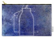 1927 Oil Can Patent Blue Carry-all Pouch