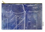 1930 Cocktail Shaker Patent Blue Carry-all Pouch