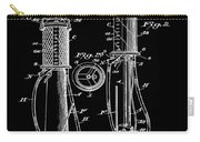 1930 Gas Pump Patent In Black Carry-all Pouch