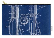 1930 Gas Pump Patent In Blue Carry-all Pouch