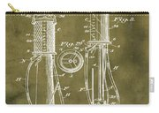 1930 Gas Pump Patent In Grunge Carry-all Pouch