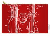 1930 Gas Pump Patent In Red Carry-all Pouch
