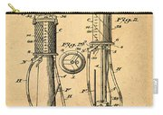 1930 Gas Pump Patent In Sepia Carry-all Pouch