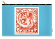 1932 Papua New Guinea Bird Of Paradise Postage Stamp Carry-all Pouch