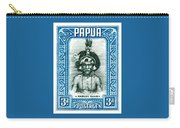 1932 Papua New Guinea Native Dandy Postage Stamp Carry-all Pouch