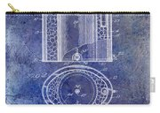 1935 Beer Equipment Patent Blue Carry-all Pouch