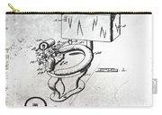 1936 Toilet Bowl Patent Antique Carry-all Pouch