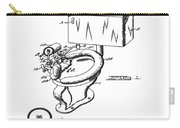1936 Toilet Bowl Patent Carry-all Pouch