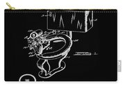 1936 Toilet Bowl Patent Black Carry-all Pouch
