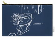 1936 Toilet Bowl Patent Blue Carry-all Pouch