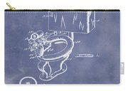 1936 Toilet Bowl Patent Blue Grunge Carry-all Pouch
