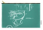 1936 Toilet Bowl Patent Green Carry-all Pouch