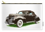 1937 Lincoln Zephyer Carry-all Pouch