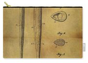 1939 Baseball Bat Patent Carry-all Pouch