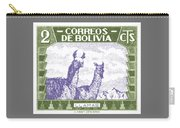 1939 Bolivia Llamas Postage Stamp Carry-all Pouch