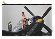 1940s Style Navy Pin-up Girl Sitting Carry-all Pouch