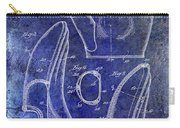 1941 Baseball Glove Patent Blue Carry-all Pouch