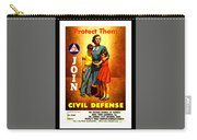 1942 Civil Defense Poster By Charles Coiner Carry-all Pouch