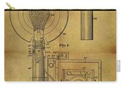 1943 Camera Flash Patent Carry-all Pouch