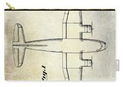 1945 Transport Airplane Patent Carry-all Pouch