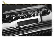 1947 Cadillac Radio Black And White Carry-all Pouch
