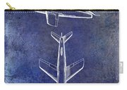 1947 Jet Airplane Patent Blue Carry-all Pouch