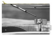 1948 Mg Tc Rear View Mirror Black And White Carry-all Pouch
