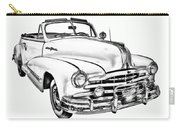 1948 Pontiac Silver Streak Convertible Illustration Carry-all Pouch