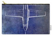 1949 Airplane Patent Drawing Blue Carry-all Pouch