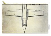 1949 Airplane Patent Drawing Carry-all Pouch