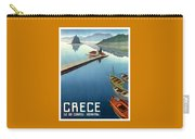 1949 Corfu Greece Travel Poster Carry-all Pouch