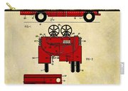 1950 Red Firetruck Patent Carry-all Pouch