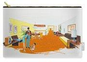 1950's Motel Room Retro Artwork Carry-all Pouch